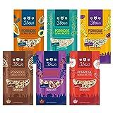 3Bears Porridge Fruchtiges Probier-Pack, 6 x 50g I Leckere Auswahl für ein gesundes Frühstück, ohne Zusatz von Zucker I in den Sorten Apfel/Zimt, Kokos, Banane/Mohn, Kakao, Beere & kerniger Klassik