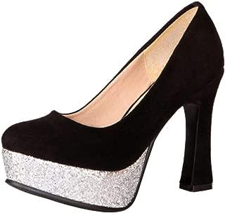 Zanpa Women Fashion Pumps Block High Heels Platform