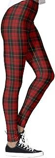 DIYCCY - Pantalones de yoga para mujer, diseño escocés, color marrón