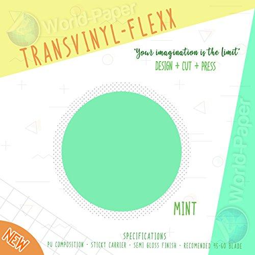 """Heat Transfer Vinyl 10"""" x 1 Yard Roll T-Shirt Iron ON All Cutting Machines (Mint)"""