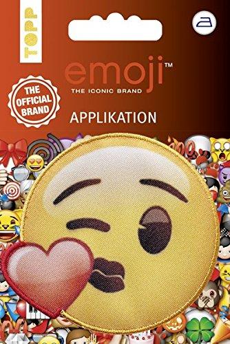Emoji Applikation Kuss mit Herz: Applikation zum Aufbügeln