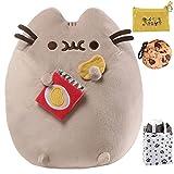 Enesco GUND Pusheen & Potato Chips Plush Toy, Cookie Clip, Coin Purse & Bag Multi-Pack