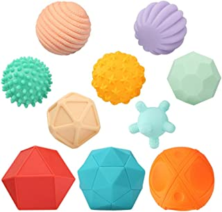 Baby Balls Soft Hand Grip Ball Baby Toy Massage Sensing Touch Ball Set 3-6 Months Baby Hand Grip Ball 10pcs Toddlers Child...