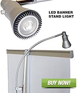 Signworld Banner Stand Light - LED Clip On for Retractable Roll Up Banner Displays & Trade Show Booths