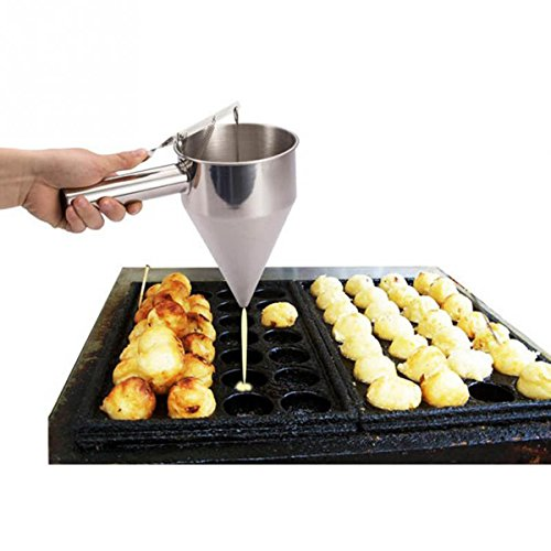 Stainless Steel Funnel Octopus Balls Tools With Rack