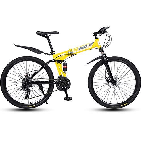 """liu 26""""Folding City Bike Fahrrad 21-Gang Shimano Zahnradrahmen Kotflügel Gepäckträger Vorderrad Hinterradreflektoren (3/6/10/30/40-Speichen),30knives"""