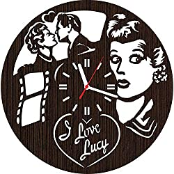 Absolutely Unique Gift Wooden Wall Clock i Love Lucy for Men Women her Fans mom dad Home Decorations Pillow Shirt Mug Christmas Wedding Art DVD Vinyl