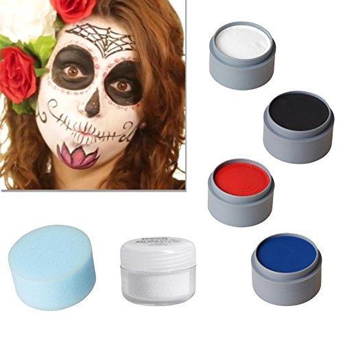 Halloween Schminke Set Sugar Skull Spain schminken Theaterschminke