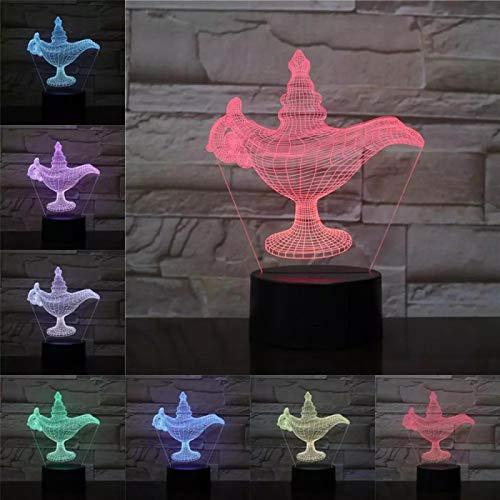 Lampara Magica Illusione Tocco Colorato Luce Notturna 3D Regalo Di San Valentino 3D Luce Notturna Notturna A Visione Stereo Proposta Luce Notturna 3D
