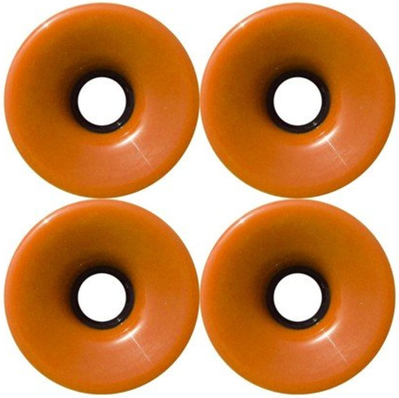76mm 78a Offset Hub SOLID orange Longboard Wheels