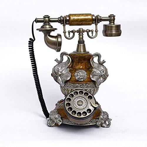 nshdr デザインアンティーク電話 - 回転式電話 - コード付きレトロ電話 - ヴィンテージ装飾電話