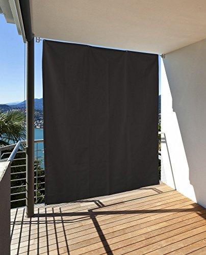 CV Vertikaler Sonnenschutz Windschutz Sichtschutz Balkon Terrasse anthrazit 230 x 140 cm