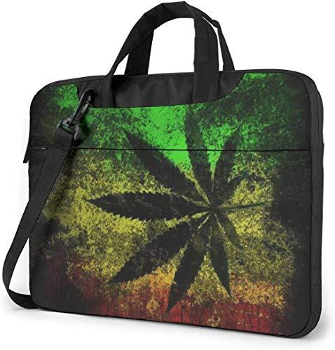 15.6 inch Laptop Shoulder Briefcase Messenger Jamaica Flag Leaves Tablet Bussiness Carrying Handbag Case Sleeve
