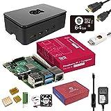 Marstudy Raspberry Pi 4 Model B MAX Kit/ラズベリーパイ4B(4GB RAM)/MicroSDHCカード64GB NOOBSプリインストール/のプレミアムケース/独自の低騒音ベアリングシステムファン/ヒートシンクのセット/5.1V/3.5A Micro USB-C電源アダプタ ON/OFFスイッチ付き/MicroHDMI-to-HDMIケーブルライン/カードリーダ/日本語取扱説明書/3年保証付