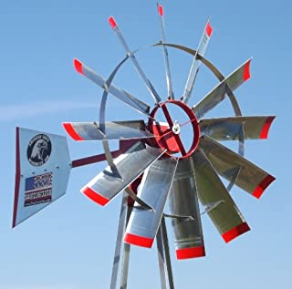 23' Pond Aerator Windmill   American Eagle   Wind Mill Aeration System Kit   Strong 4 Leg Tower