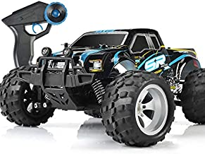 DOUBLE E RC Car High Speed Remote Control Car for Kids Adults 1:18 Scale 4WD Off Road Monster Trucks with 800mah Rechargeable Battery, 2.4Ghz Racing Cars for Boys Teens Adult