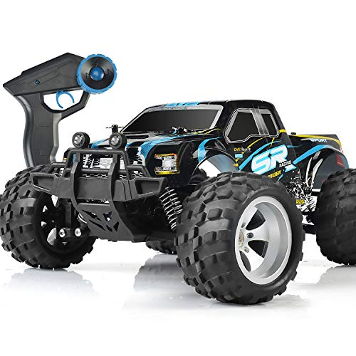 DOUBLE E RC Cars High Speed Remote Control Car for Kids Boys Adults 1:18 Scale 4WD Off Road Monster Trucks with 800mah Rechargeable Battery, 2.4Ghz Racing Cars