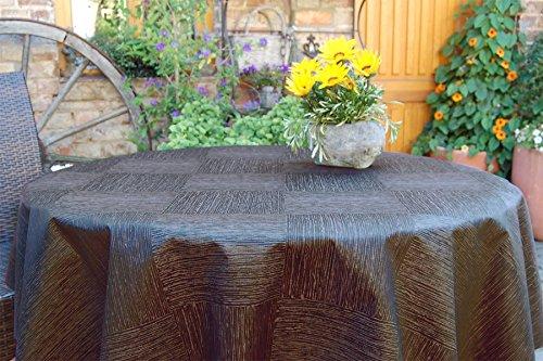 ODERTEX Ass-Nappe Mul, Polyester, Anthrazit-Grau New York, Rund: 110 cm für Tischgröße 070 cm