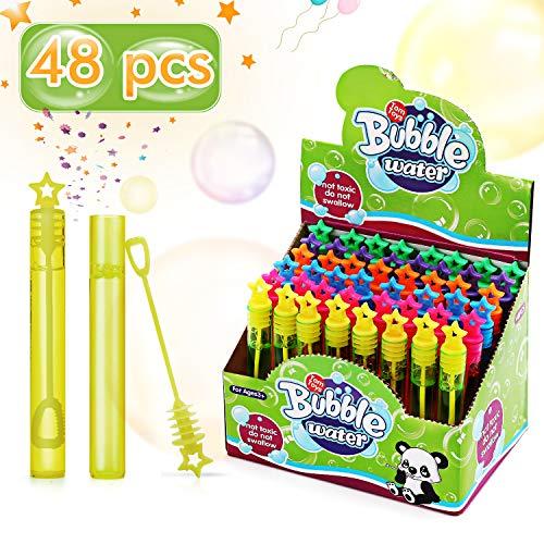 Ucradle Seifenblasen Kinder Set, 48pcs Seifenblasen Hochzeit Party Bubbles Seifenblasen Stäbe für Kindergeburtstag Gastgeschenke, Party Bag Fillers, Tombola Preise für Kinder