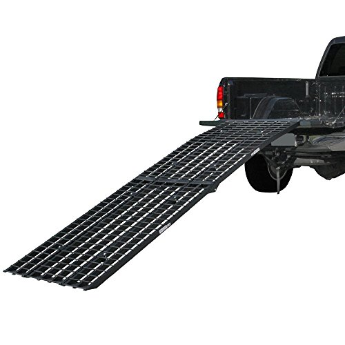 Rage Powersports Black Widow BW-14440-HD Aluminum 12-Foot Tri-Fold Arched Motorcycle Ramp