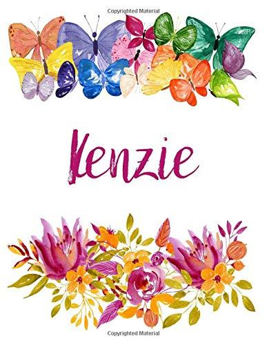 Kenzie: Flower Notebook Writing Journal for Girls,Personalized With Name, Personalized Writing Journal,Notebook for Women and Girls, Personalized Notebook/Journal Gift