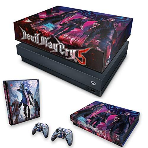 Capa Anti Poeira e Skin para Xbox One X - Devil May Cry 5
