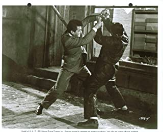 Tony Curtis fights in Macao in Forbidden 8x10 1953