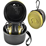 Earmuff Case for Howard Leight by Honeywell Impact Sport Sound Amplification/ Walker's Game Ear Razor Slim/ awesafe Electronic Shooting Earmuff with Accessories Mesh Pocket (Box Only)