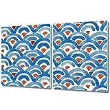 Coloray Tabla De Cortar Protector 2x40x52cm Vidrio Templado Cocina Para Servir Platos Placa De Induccion - Piel de pescado utensilio