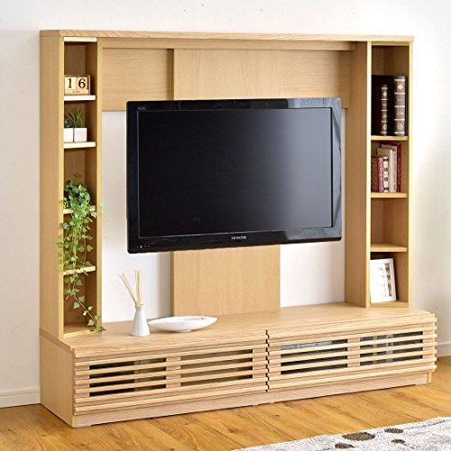 タンスのゲン ハイタイプ テレビ台 幅160cm 壁面 収納 天然木 北欧 ナチュラル 71020051 NA