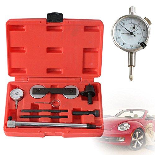 SHIOUCY Motor Einstellwerkzeug Steuerkette Wechsel Werkzeug Messuhrhalter + Messuhr für VW 1.2 1.4 1.6 FSI TFSI