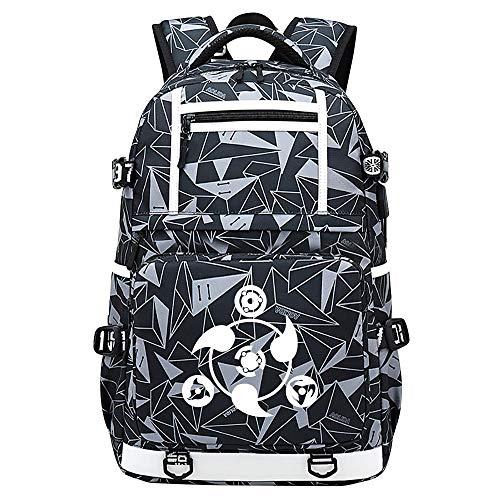 Anime narutoJapan Anime Reiserucksack Teenager Rucksack Rucksack Harajuku Leinwand Schultasche Bagpack Schultasche Schultasche Bookbag,30x15x48cm