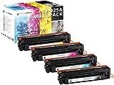 4 Schneider Printware Toner | 40% mehr Leistung | kompatibel zu 125a für HP Color Laserjet CM1312nfi MFP CP 1210 1215 1217 1510 1514n 1515n 1518ni