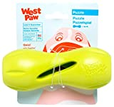 West Paw Zogoflex Qwizl Interactive Treat Dispensing Dog Puzzle Treat Toy for Dogs, Granny Smith, Small