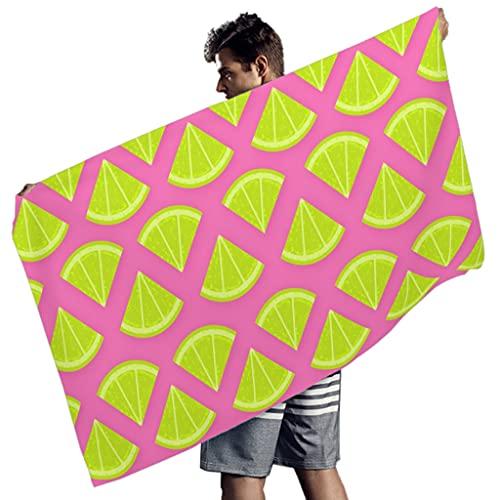 Rtisandu Toallas de playa rectangulares con frutas de sandía, absorbentes, toalla de sauna, toalla de baño para hombres y mujeres, color blanco, 150 x 75 cm