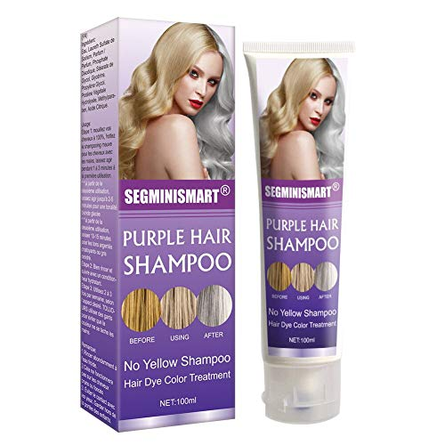 Purple Shampoo,No Yellow Shampoo,Silver Shampoo,Keep Hair Ash Gray Eliminate Yellow Anti Brassy Long Lasting Dyed Color Lock for Blonde Hair