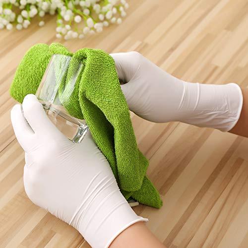Shocknshop Disposable Nitrile Rubber Hand Gloves (Blue, Medium) - 20 Piece