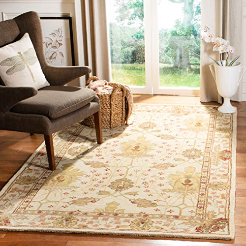 Safavieh Anatolia Collection Handmade Traditional Oriental Ivory Wool Square Area Rug (6' Square)
