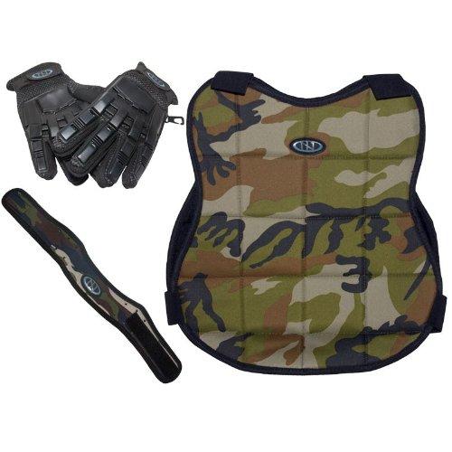 New Legion Paintball Zubehör Schutzset mit Vollfinger-Handschuh, Camo, 61234