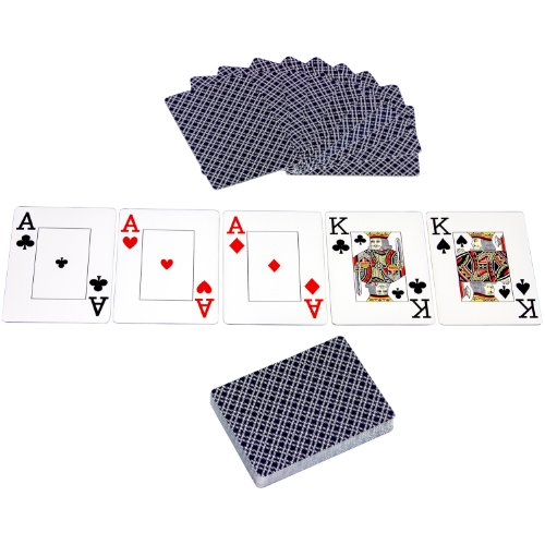 Ultimate Black Edition Pokerset, 300 hochwertige 12 Gramm METALLKERN Laserchips, 100% PLASTIKKARTEN, 2x Pokerdecks, Alu Pokerkoffer, 5x Würfel, 1x Dealer Button, Poker, Set, Pokerchips, Koffer, Jetons - 9