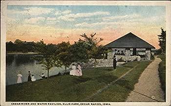 Cedar River and Water Pavilion, Ellis Park, Cedar Rapids, Iowa Original Vintage Postcard