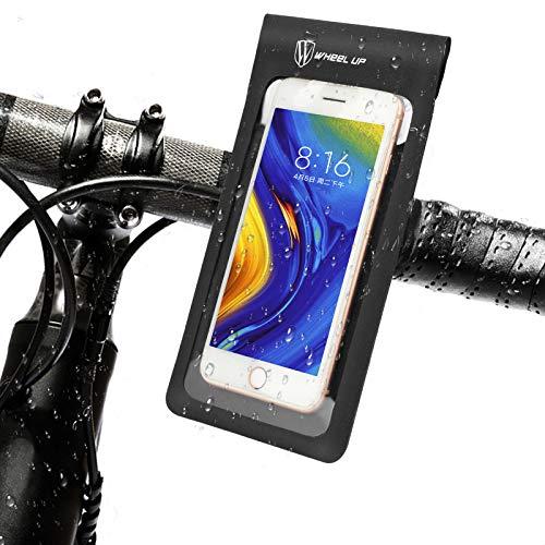 Yideng Bolsa Bicicleta para movil Impermeables soporte movil bici 360° Rotación Soporte Movil Moto Bicicleta Bolso de Bici Compatible con teléfonos inteligentes de hasta 6.5 pulgadas