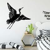 Pegatinas de pared de aves amantes de los animales decoración familiar decoración de la habitación de los niños del bebé pegatina de pared Mural A1 XL 58x58cm