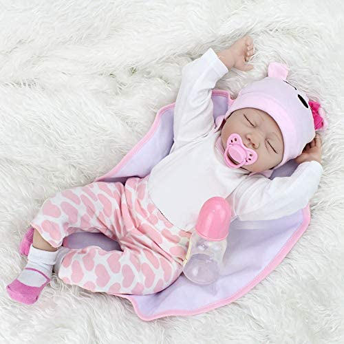Kaydora Reborn Baby Doll Girl 22 inch Soft Weighted Body Cute Lifelike Handmade Silicone Sleeping product image