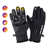 Waterproof gloves,Full Finger Anti-Slip Shock-Absorbing Touchscreen Gloves,Winter Windproof Thermal Gloves Motorcycle Gloves