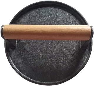 ベーコンプレス グリルプレス・ミート BBQ、キャンプ 丸型