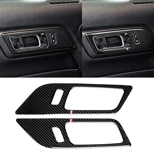 ZYS YAY - 2 piezas para puerta de coche de fibra de carbono color para Ford Mustang 2015-2017