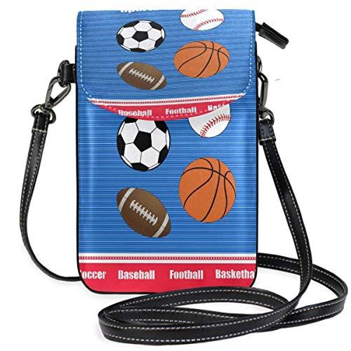 XCNGG Kleine Geldbörse Sport Balls Cell Phone Purse Wallet for Women Girl Small Crossbody Purse Bags