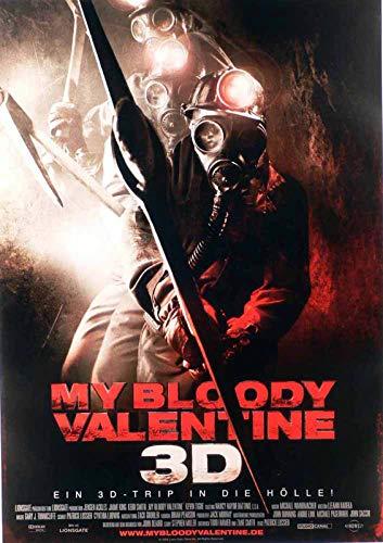 My Bloody Valentine 3D - Jensen Ackles - Jaime King - Filmposter 37x53cm gerollt