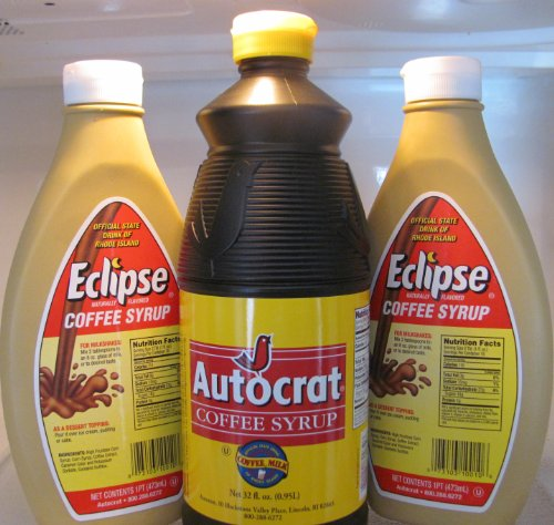 Autocrat and Eclipse Coffee Syrup Bundle (1 Autocrat Coffee Syrup 32 Oz and 2 Eclipse Coffee Syrup 16 Oz)